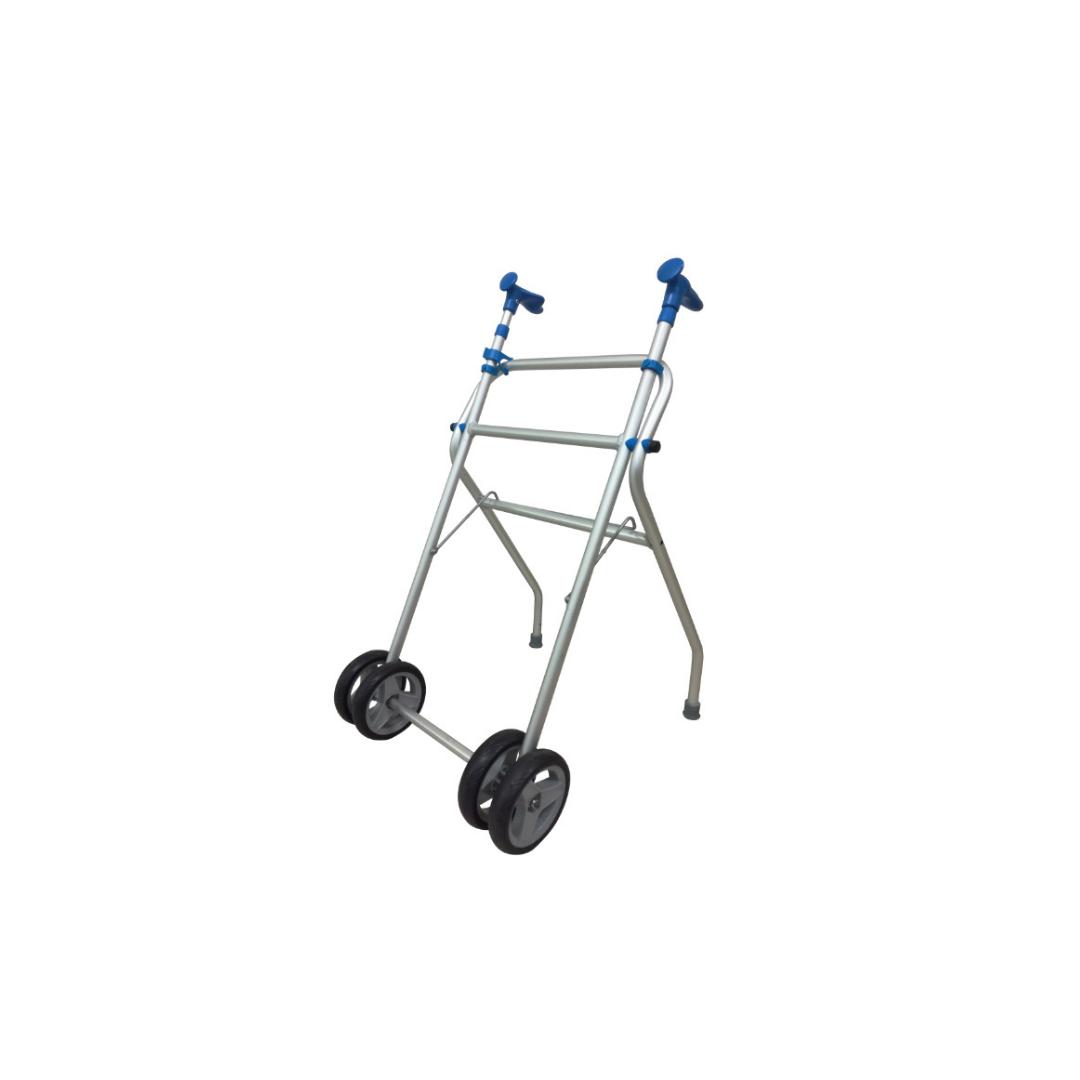 Aluminum Walker, Folding Walker, Wheeled Walker (without seat, without brake)