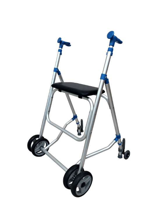 Aluminum Walker with seat, with brake
